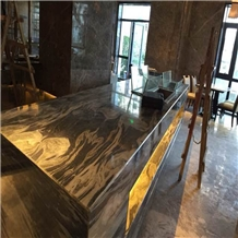 Special Cloud Grey Marble Kitchen Countertop