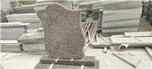 Western Style G664 Granite Tombstone Headstone