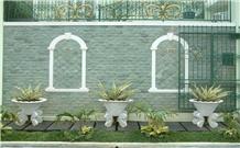 Sukabumi Green Stone Natural Hijau Bruta Split Wall Tiles