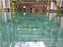 Sukabumi Green Stone Swimming Pool Tiles