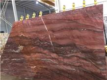 Fusion Red Quartzite, Red Fusion Quartzite Slab