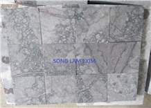 White Cloudy Marble Sanded Pool Coping Tiles