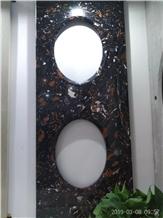 Double Sink Vanity Top Artificial Marble Low Price