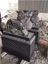 G654 Granite Mythi Stand by Pi Xiu Animal Carving