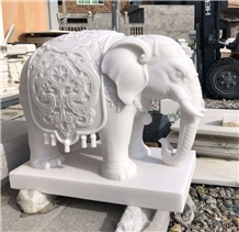 Pure White Onyx Stone Animal Sculpture 60cm Statue