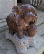 Red Granite Home Outdoor Animal Stone Carving