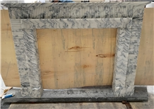 Italy Arabescato White Marble Fireplace Mantel