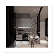 White Black Terrazzo Stone for Kitchen Countertop
