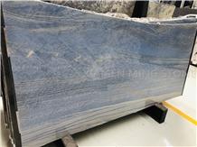 Azul Macaubas Quartzite Slab,Brazil Blue Wall Tile