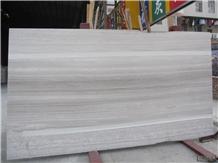 Bianco Serpeggiante White Wooden Vein Marble Slab
