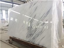 China Oriental White Marble Slab with Blue Veins