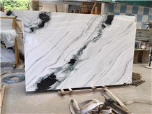 Panda White Marble Slab with Black Veins