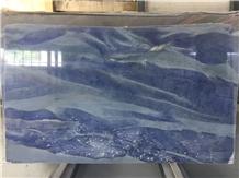 Azul Imperial Quartzite Slab Tiles Floor Wall