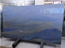 Blue Macaubas Quartzite Slabs Tiles Floor Wall