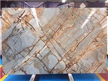 Blue Roma Quartzite Slabs Tile Floor Wall