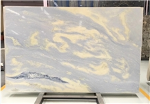 Blue Sky White Azul Acquamarina Marble Slab Tiles