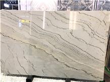 Calacatta White Macaubus Quartzite Wall Slab Tiles