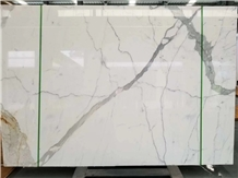 Calacatta White Marble Floor Wall Slab Tiles