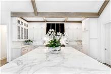 Calacatta White Marble Kichen Countertops