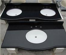 China Absolute Black Granite Countertop Vanity Top
