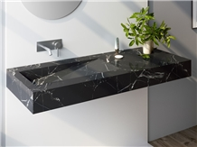 China Black Marquina Marble Vanity Top Coutnertop