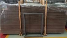 China Coffee Wooden Brown Marble Floor Slab Tiles