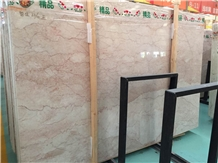 China Cream Rose Pink Marble Slab Tile Wall Floor