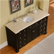 Crema Marfil Marble Countertops Vanity Top