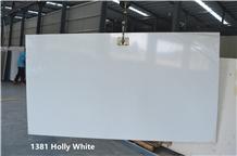 Crystal White Quartz Artificial Stone Slab Tiles
