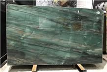 Emerald Green Quartzite Wall Slab Background