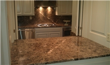 Emperador Dark Grey Marble Kitchen Countertops