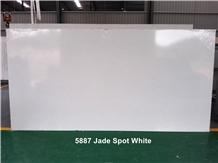 Jade Spot White Quartz Stone Slab Tiles