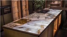 Patagonia White Quartzite Kitchen Countertops