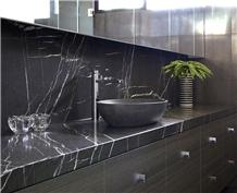 Pietra Grey Marble Vanity Top Bathroom Countertop