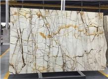 Roma Imperiale White Quartzite Slabs Tiles