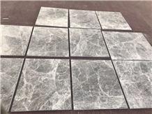 Silver Emperador Hermes Grey Marble Slab Tile