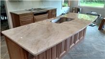 Taj Mahal Beige Quartzite Kitchen Countertops