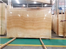 Yellow Gold Onyx Floor Wall Covering Slabs Tiles