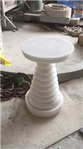 Crystal White Marble Luxury Coffee Table