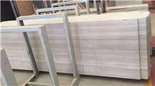 Hot Sale White Wooden Vein Marble Slabs