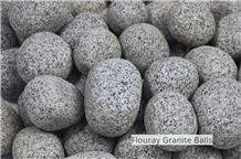 Grey Granite Pebbles, Flouray Granite Balls