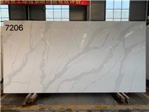 Calacatta 7206 White Quartz Engineered Stone