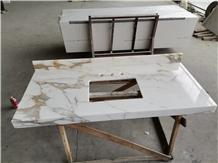Calacatta Gold Marble Countertop Vanity Top
