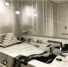 China Panda White Vanity Top Bathroom Tops