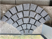 Grey Granite Fan Paver Flagstone Paver Cube Stone