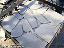 Irregular Flamed White Quartzite Paver Floor Tiles