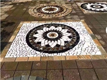 Outdoor Round Culture Stone Mesh Medallion/Pattern