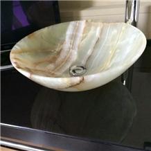 Luxury Decoration Bathroom Stone Vanity Onyx Sink