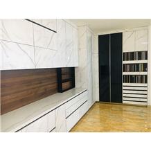 Marble Top China Melamine Modular Kitchen Cabinet