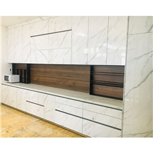 Modern Stone Countertop Marble Kitchen Cabinet